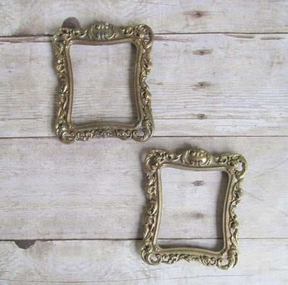 Vintage Ornate Picture Frame Wedding Decor By WhatsNewOnTheMantel