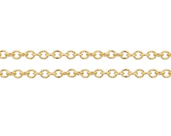 14Kt Gold Filled 2.5x2mm Cable Chain Strong and Heavy  - 20ft (6583-20) Strong and Shiny Made in USA 20% discounted  wholesale quantity