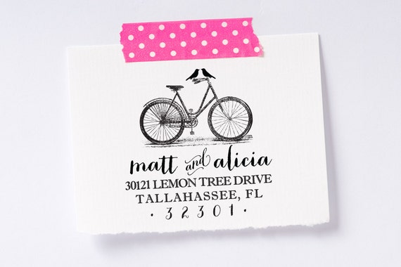 Personalized & custom return address stamp