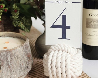 Navy Classic & Simple Wedding Table Number - Set of 20 Table Markers