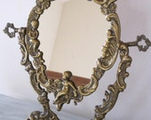 Vintage French Louis XV Style Psyche Vanity Mirror Swivel Easel Stand Ideal For A Boudoir