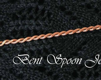 Hair Stick, Hair Pin, Copper Heart Shawl Pin, Bent Spoon Jewelry