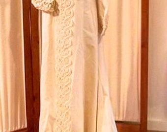 Vintage 1970 Wedding Gown, size medium, The Nancy Dress