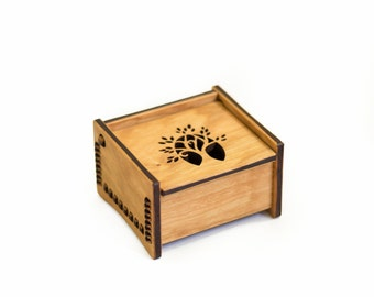 "4"" Bench Box - Tree Design"