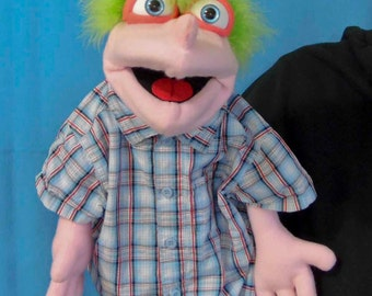 Rodger male Hand Puppet or Ventriloquist Figure