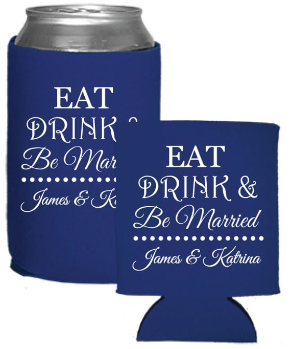 Personalized wedding favors beer koozies coolies by factory21 for Beer koozie wedding favors