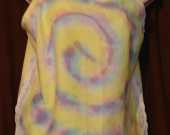Tie Dyed Halter hand made before it was dyed Has eyelet lace up sides. So pretty and comfortable cotton Teens or Women Petite sized *
