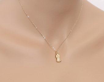 Buddha Necklace Gold Birthdays Friends