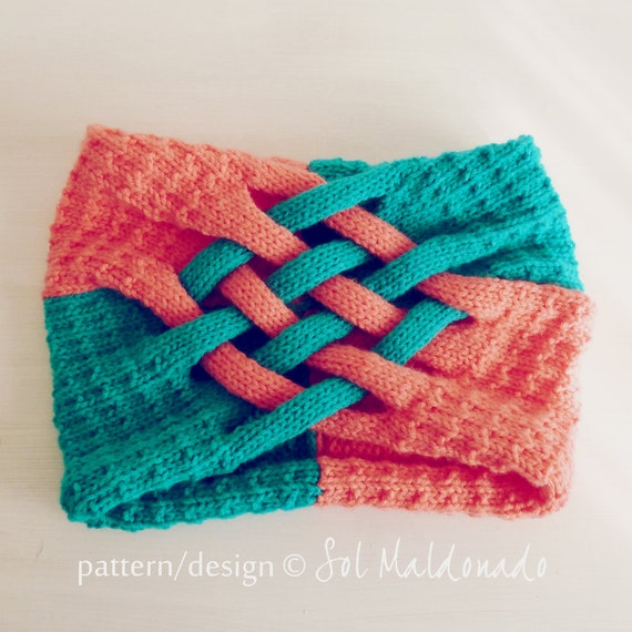 Cowl Scarf knit pattern - unisex circle scarf - Instant Download
