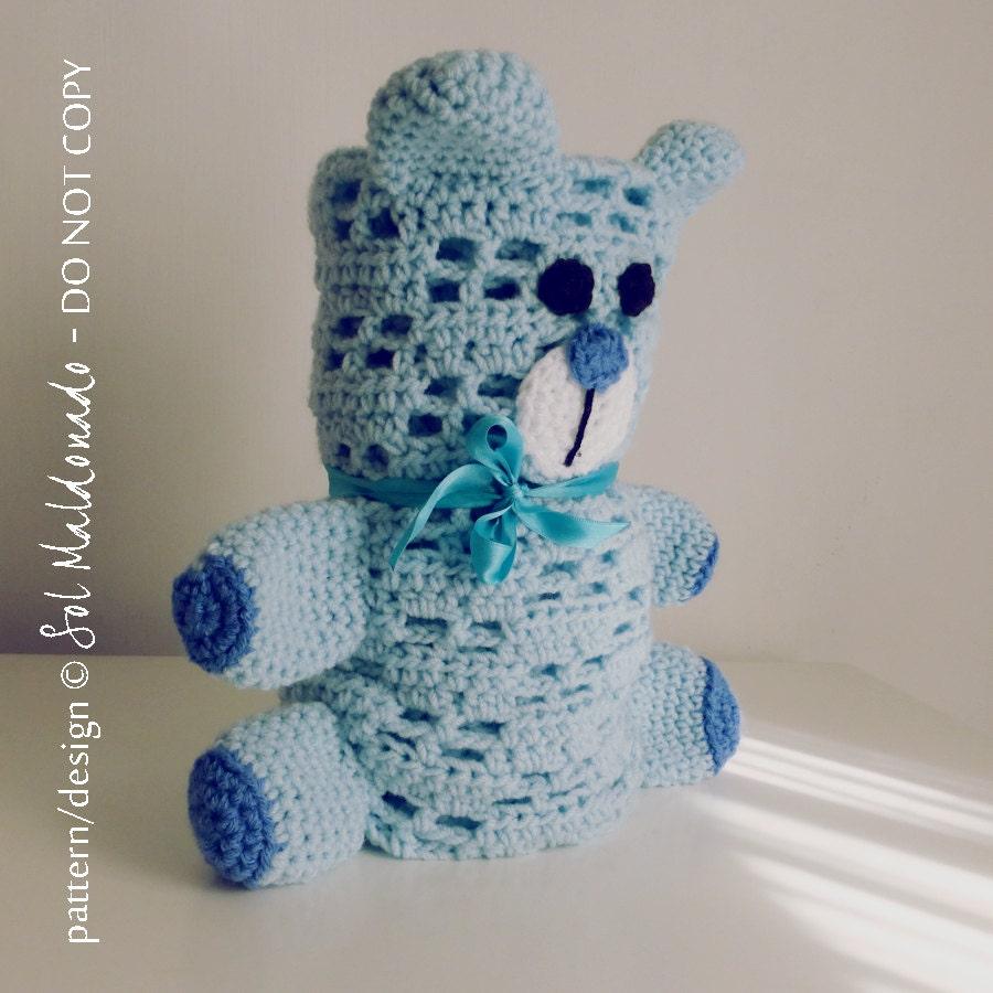 Crochet Baby blanket Pattern Bear PDF Bear amigurumi toy ...