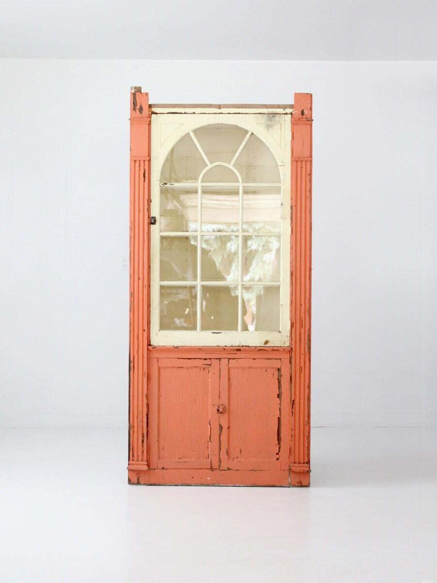 Antique Corner Cabinet Painted China Cabinet Primitive