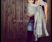 Ready to Ship - Gorgeous Grey Moroccan Ring Sling - Gender Neutral - 4 Carrying Styles - Newborn to 35lbs.