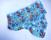 Super Hero Comic Book Baby Burp Cloths - set of 3 - blue toweling and cotton baby gift. Baby shower, new baby gift., New dad gift
