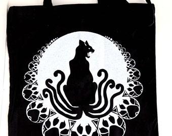 Six Tail Cat Tote Bag