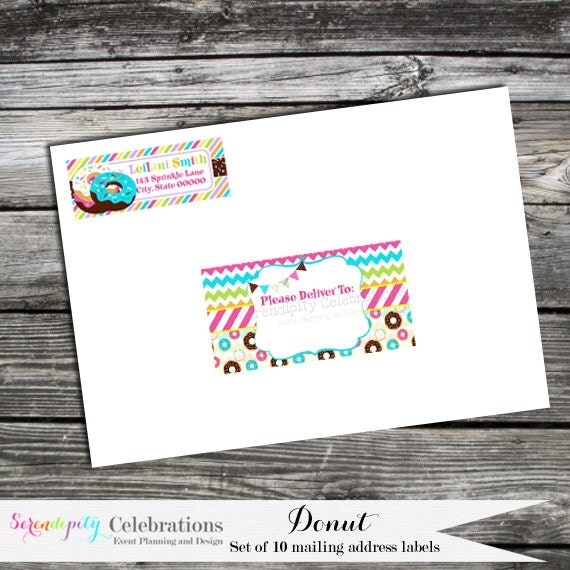 envelope labels donut return address labels sticker With envelope address stickers