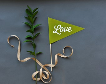 Love Pennant Photo Prop - Thirsty