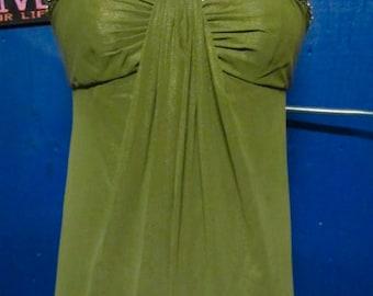 Green Evening Dress/ Green Bridesmaid dress/Party Dress/ Prom Dress/Formal Dress/Elegant Dress/Long Evening Dress/Green Dress