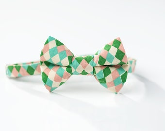 Boys Easter Bow Tie - Pastel Diamonds - Little Boy Bowtie