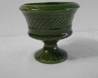 Haeger Vintage Green Pottery Planter
