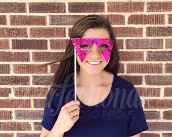 80s Photo Booth Prop | Rockstar Photo Prop | 80s Party Decorations | Masquerade Mask | Pop Star Mask