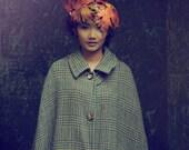 Autumn leaf crown, glitter leaf crown, sycamore leaf crown, autumn headpiece, rusty orange headpiece, party headpiece, leaf crown
