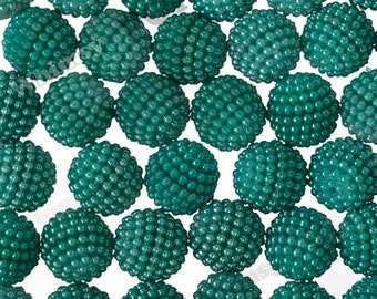 20mm - Forest Green Pearlized Berry Beads, Chunky Berry Beads, 20mm Berry Beads, Berry Gumball Beads, 3mm Hole
