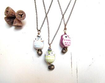 owl necklace , owl talisman pendant , Eco friendly , free shipping