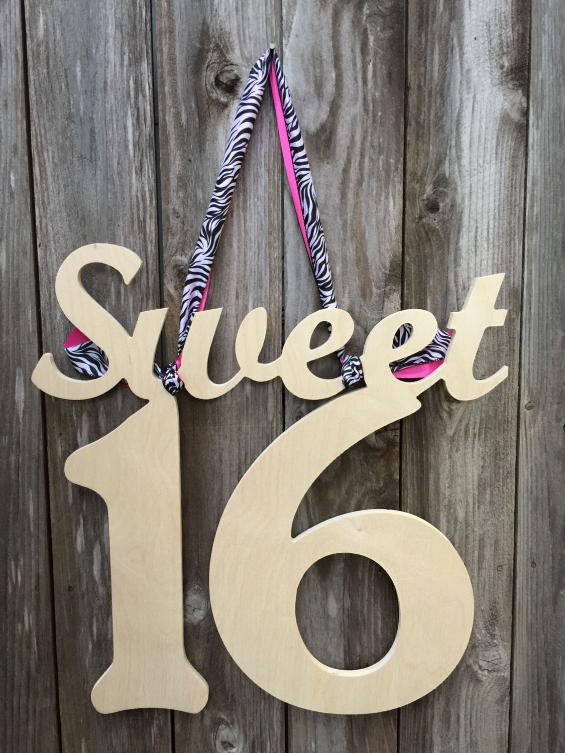 Sweet 16 unpainted wooden sign sweet 16 sign unpainted for 16 wooden letters