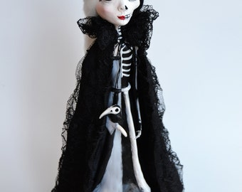 Custom Art Doll - OOAK Art Doll - Hel - Goddess Of Death