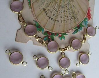 Vintage Swarovski  Soft Fosted Lavender Pink Connector Link