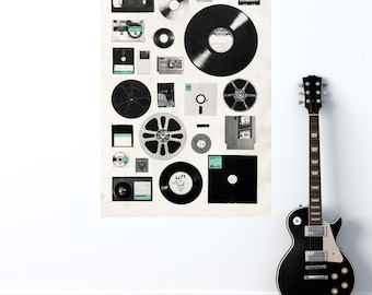 Retro Media Wall Sticker Decal – Data by Florent Bodart