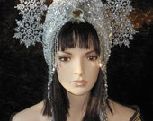 Last payment for Misty  Fantasy Party Costume Snowflake Silver Crystal Ice Snow Queen Frozen Princess Headdress Headpiece Crown Hat