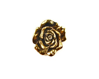 Rose Lapel Pin - Tie Tack - Valentine's Gift - Handmade - Gift Box Included