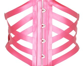 Rose Latex Waspie Corset
