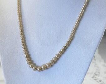 Older Vintage Faux Pearl Necklace
