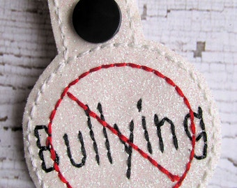 Anti Bullying Snap Tab Keyring - Keychain Keyfob