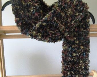 Crochet Fashion Scarf - Forest - Fuzzy