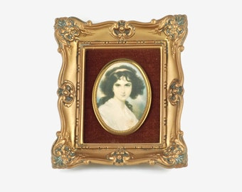 Vintage 'A Cameo Creation - Hubak Lady' Framed Portrait Wall Plaque