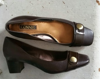 Vintage 80s Connie Chunky Heel Pumps