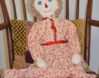 Vintage Traditional Raggedy Ann Doll