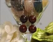 Bloodstone Drop Earrings