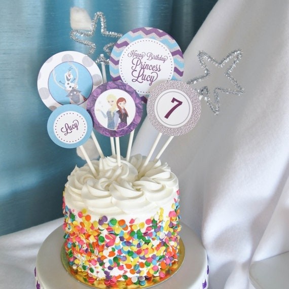 Etsy Frozen Cake Decorations : Items similar to Frozen Cake Toppers, Custom Frozen Party ...