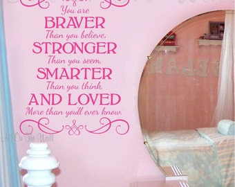Wall Decal Baby Girl Nursery Wall Quote Vinyl Lettering Saying Decals Teen Decor