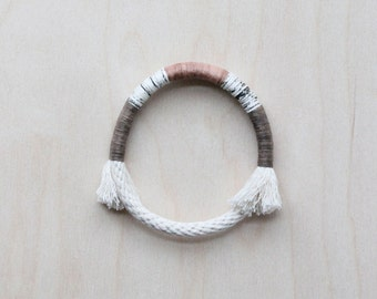 wrapped bangle no. 1 - naturally-dyed cotton yarn and rope bracelet