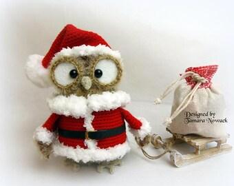 Festette the christmas owl - amigurumi PDF ebook crochet pattern
