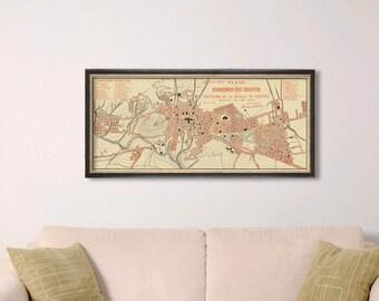 Old map of Quito  - Ciudad de Quito - Vintage map print -