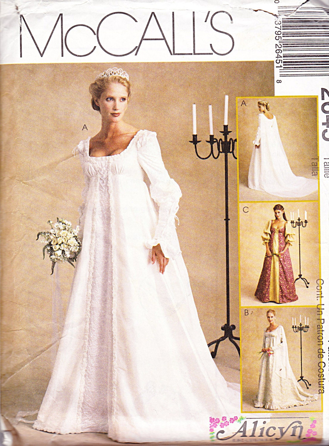 mccalls bridal gown pattern 2645 wedding dress by