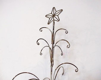 Silver Wire Tree, 12 Inch Potted Metal Chrismas Tree with Star Topper, Holiday Home Decor, Craft Supply, Jewelry Organizer itsyourcountry
