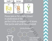 Science Creation Baby Shower Invite