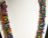 Bright Rainbow Necklace SRAJD Rainbow Red Green Orange Yellow Blue Purple